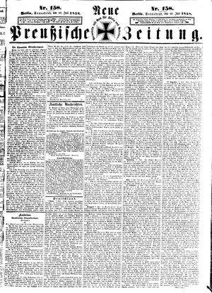 Neue preußische Zeitung vom 10.07.1858