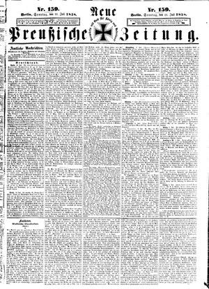 Neue preußische Zeitung on Jul 11, 1858