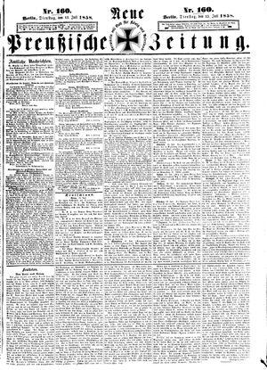 Neue preußische Zeitung vom 13.07.1858