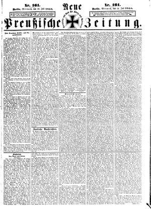Neue preußische Zeitung vom 14.07.1858