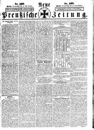 Neue preußische Zeitung vom 15.07.1858