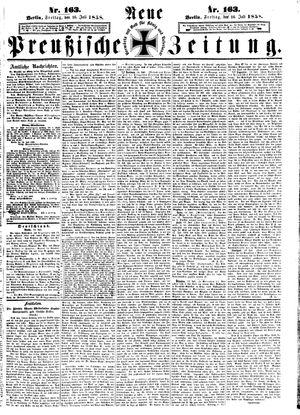 Neue preußische Zeitung vom 16.07.1858
