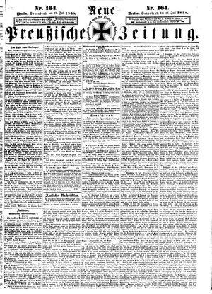 Neue preußische Zeitung vom 17.07.1858