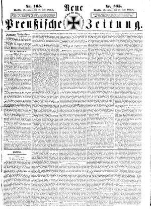 Neue preußische Zeitung vom 18.07.1858