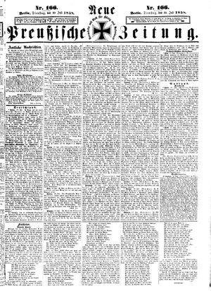 Neue preußische Zeitung vom 20.07.1858