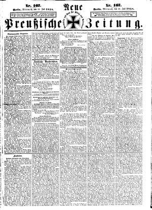 Neue preußische Zeitung vom 21.07.1858