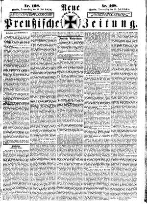 Neue preußische Zeitung vom 22.07.1858