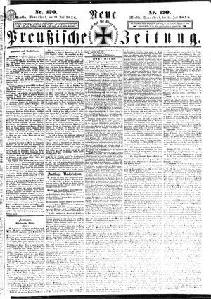 Neue preußische Zeitung vom 24.07.1858