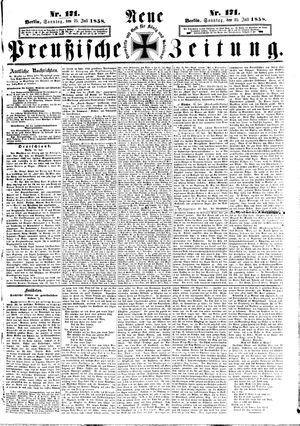 Neue preußische Zeitung vom 25.07.1858