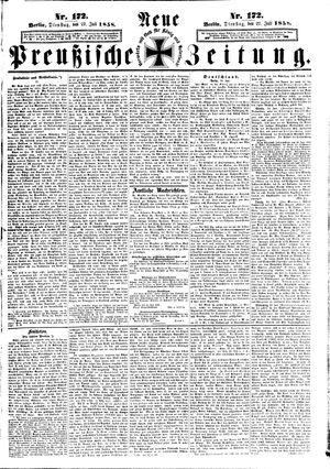Neue preußische Zeitung vom 27.07.1858