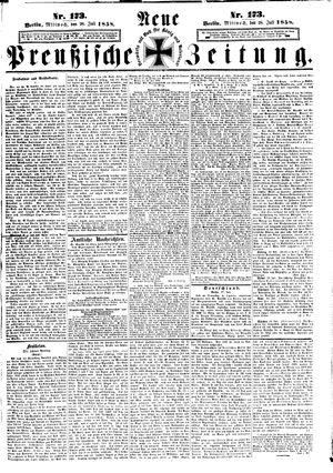 Neue preußische Zeitung vom 28.07.1858