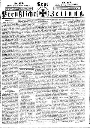 Neue preußische Zeitung on Jul 30, 1858