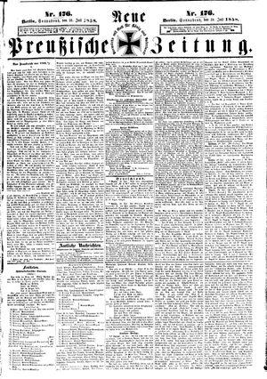 Neue preußische Zeitung vom 31.07.1858