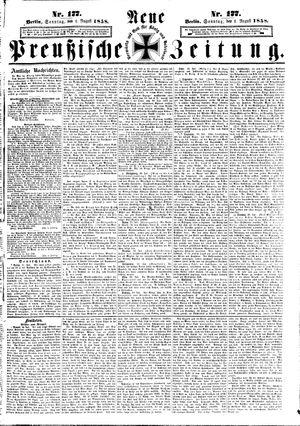 Neue preußische Zeitung vom 01.08.1858
