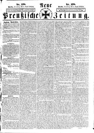 Neue preußische Zeitung vom 03.08.1858
