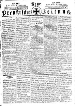 Neue preußische Zeitung vom 06.08.1858