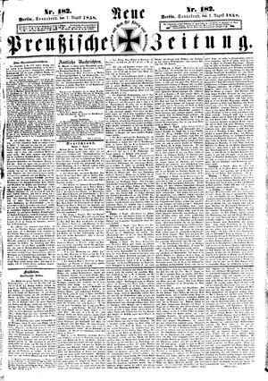 Neue preußische Zeitung vom 07.08.1858