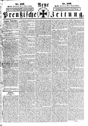 Neue preußische Zeitung vom 08.08.1858