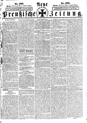 Neue preußische Zeitung vom 11.08.1858