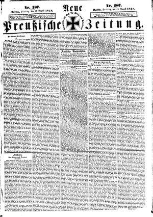 Neue preußische Zeitung vom 13.08.1858