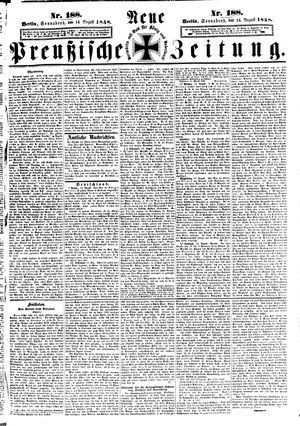 Neue preußische Zeitung vom 14.08.1858