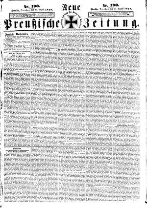 Neue preußische Zeitung vom 17.08.1858