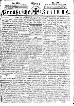 Neue preußische Zeitung vom 26.08.1858