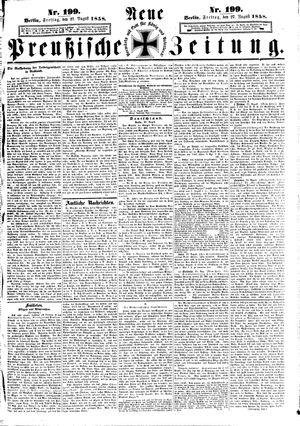 Neue preußische Zeitung vom 27.08.1858