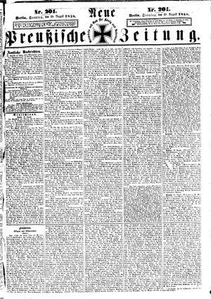 Neue preußische Zeitung vom 29.08.1858
