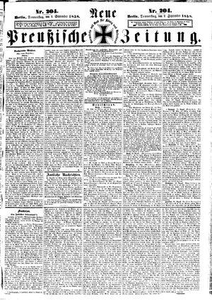 Neue preußische Zeitung vom 02.09.1858