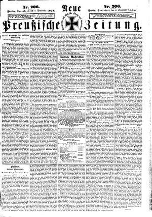 Neue preußische Zeitung vom 04.09.1858