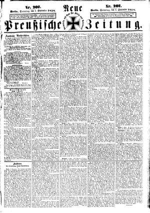 Neue preußische Zeitung vom 05.09.1858