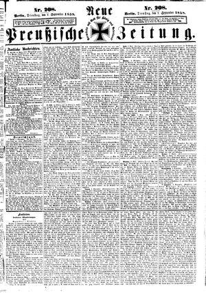 Neue preußische Zeitung vom 07.09.1858