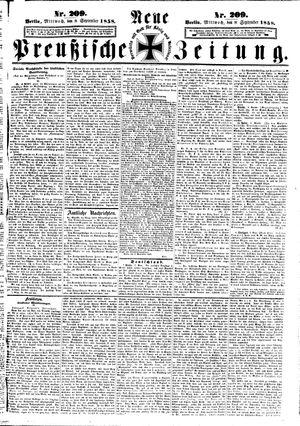 Neue preußische Zeitung vom 08.09.1858