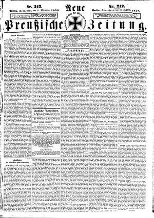 Neue preußische Zeitung vom 11.09.1858