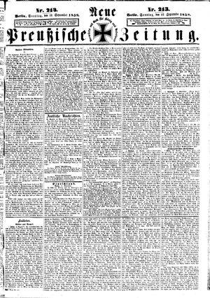 Neue preußische Zeitung vom 12.09.1858