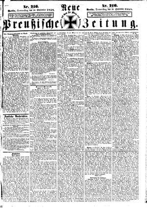 Neue preußische Zeitung vom 16.09.1858
