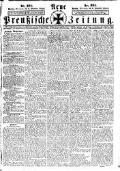 Neue preußische Zeitung (22.09.1858)