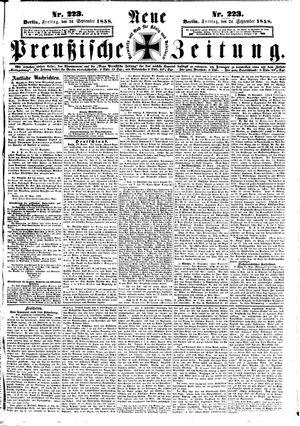 Neue preußische Zeitung vom 24.09.1858