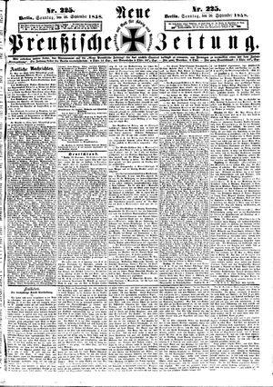 Neue preußische Zeitung vom 26.09.1858