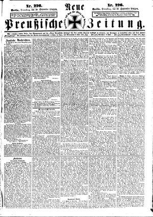 Neue preußische Zeitung on Sep 28, 1858