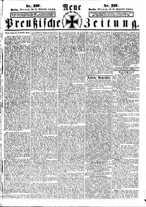 Neue preußische Zeitung vom 29.09.1858