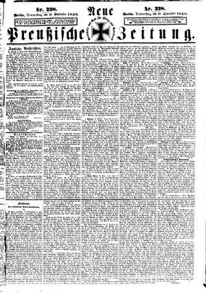 Neue preußische Zeitung vom 30.09.1858