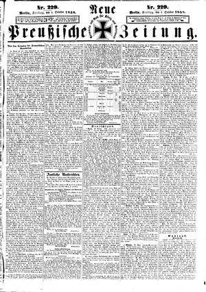 Neue preußische Zeitung vom 01.10.1858