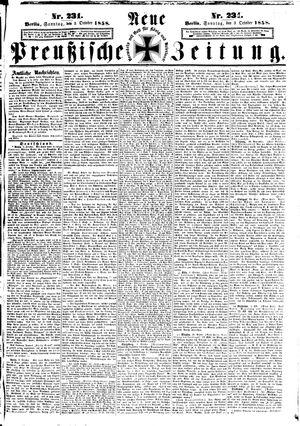 Neue preußische Zeitung vom 03.10.1858