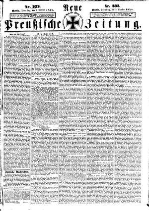 Neue preußische Zeitung vom 05.10.1858