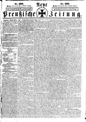 Neue preußische Zeitung vom 06.10.1858