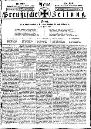 Neue preußische Zeitung vom 16.10.1858