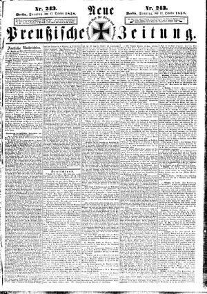 Neue preußische Zeitung on Oct 17, 1858