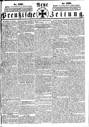 Neue preußische Zeitung vom 21.10.1858